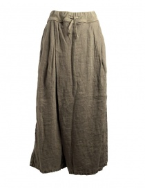 Kapital skirt pants in hemp with drawstring online