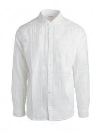 Camicie uomo online: Camicia bianca Kapital con plissettatura
