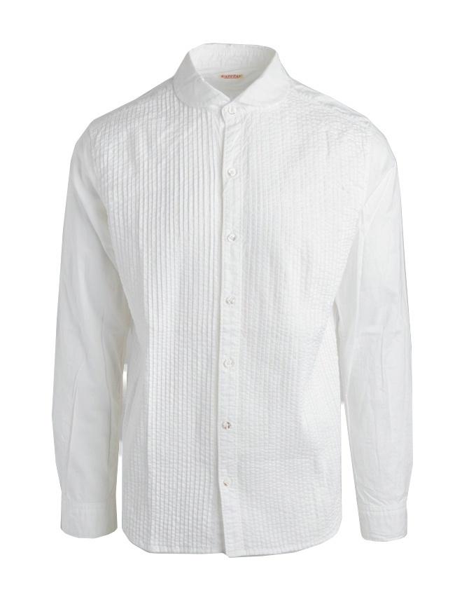 Camicia bianca Kapital con plissettatura K1507LS243 WHITE camicie uomo online shopping