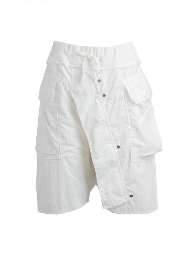 Bermuda Kapital colore bianco in cotone K1805SP222-WHITE pantaloni uomo online shopping