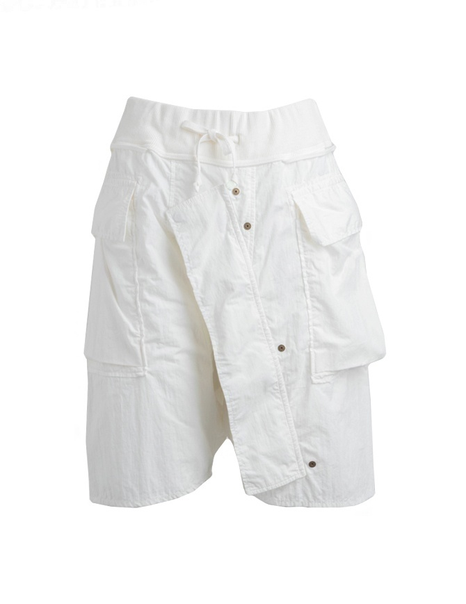 Kapital white bermuda shorts in cotton K1805SP222-WHITE mens trousers online shopping