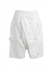 Bermuda Kapital colore bianco in cotone