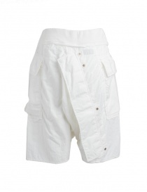 Kapital white bermuda shorts in cotton