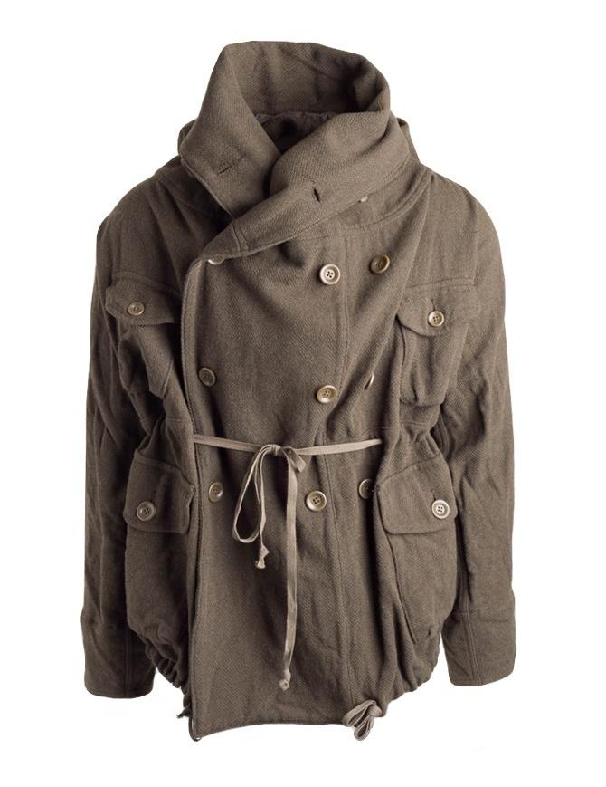 Cappotto Kapital in misto lana colore khaki EK-487 KHAKI cappotti uomo online shopping