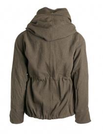 Cappotto Kapital in misto lana colore khaki