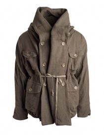 Cappotto Kapital in misto lana colore khaki prezzo