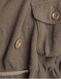 Kapital coat in khaki wool blend mens coats buy online