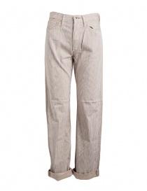 Pantaloni uomo online: Pantalone Kapital a righe marroni