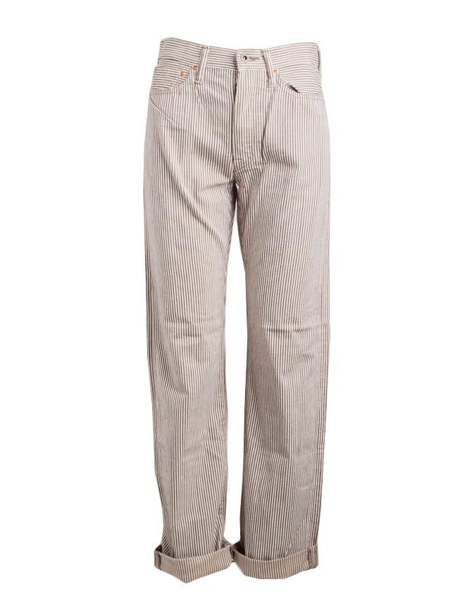 Pantalone Kapital a righe marroni K81LP102 KAPITAL pantaloni uomo online shopping