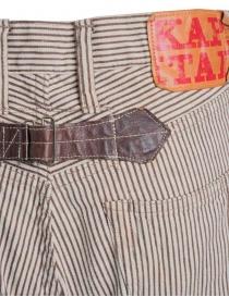 Pantalone Kapital a righe marroni prezzo