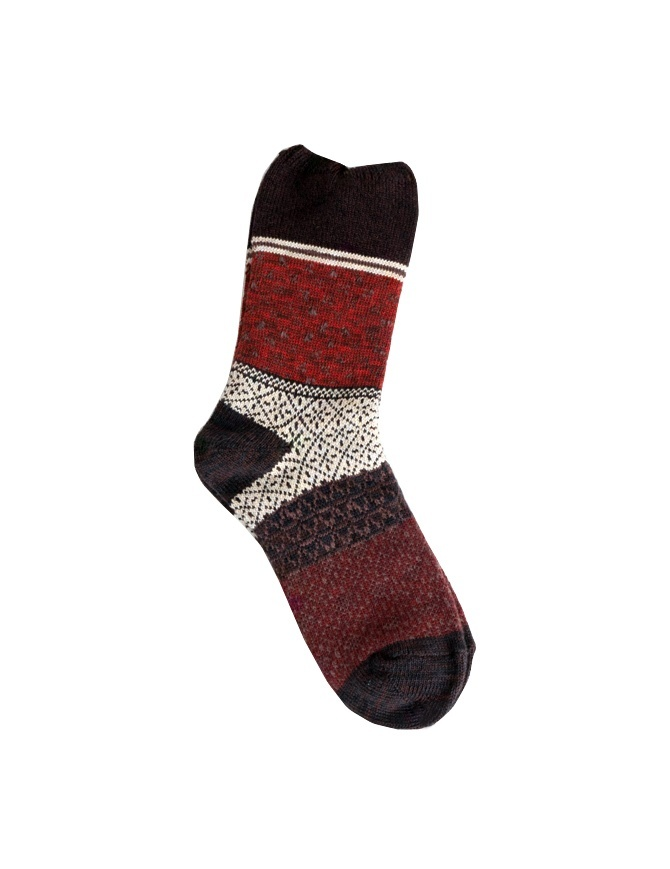 Kapital Burgundi socks red K1805XG605 BURGUNDY SOCKS socks online shopping