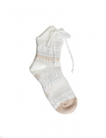 Socks online: Kapital white socks with laces