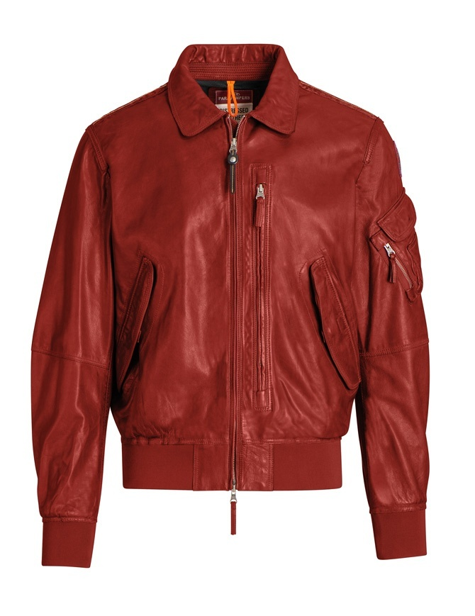 Parajumpers Brigadier red bomber PMJCKLE01 BRIGADIER LEA RED mens jackets online shopping