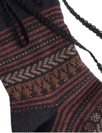 Kapital brown socks with laces