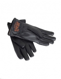 Kapital gloves in leather and cotton with pockets