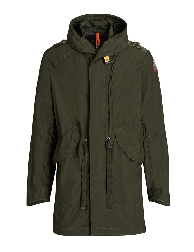 Parajumpers Gregory Spring green parka PMJCKMA03 GREGORY SPRING 764 mens jackets online shopping