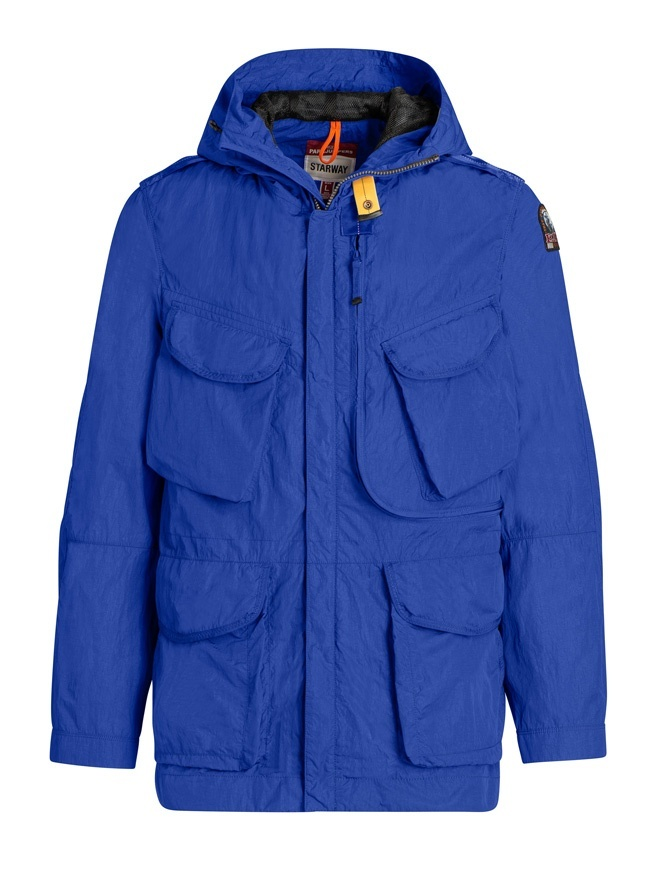 Giacca Parajumpers Dubhe colore blu royal PMJCKSY03 DUBHE 516 ROYAL giubbini uomo online shopping