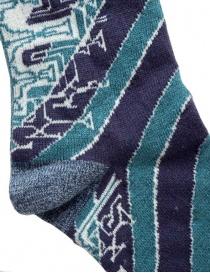 Calzini Kapital a righe verdi e blu