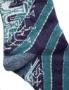 Kapital socks with green and blue stripes shop online socks