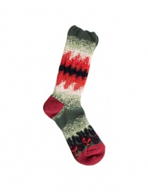 Kapital green and red socks K1806XG617-GREEN order online