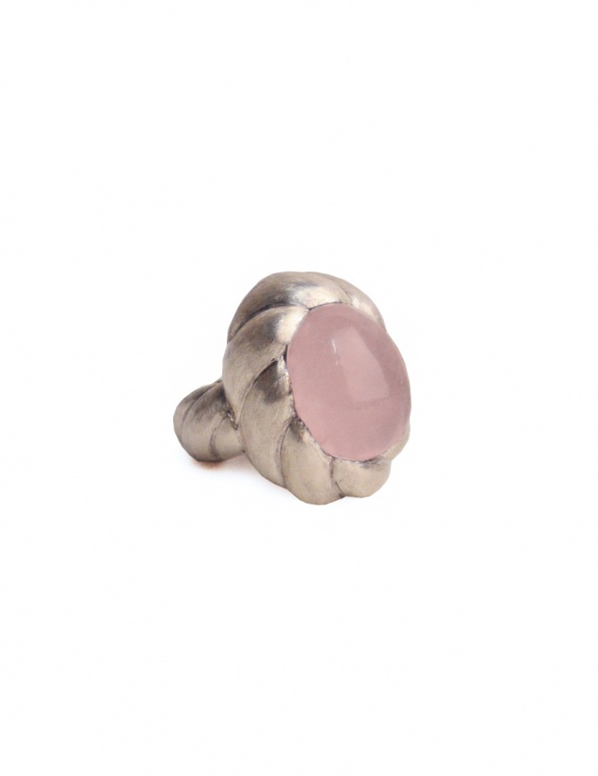 ElfCraft spiral ring with rose quarz DF833.833RGH18-L58 jewels online shopping