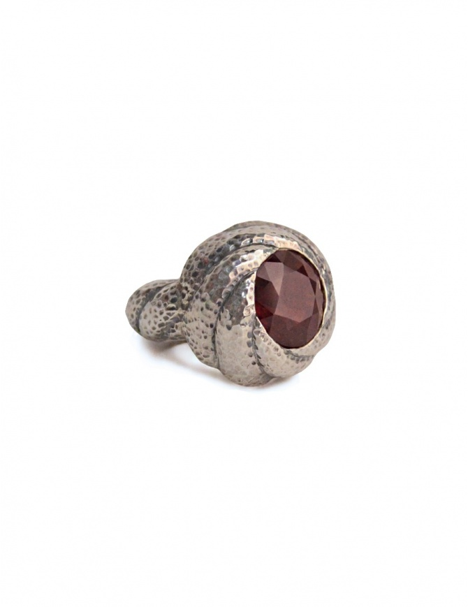 ElfCraft ring with red garnet stone DF833.833HAM1-L58 jewels online shopping