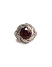 Anello ElfCraft con pietra in granato rossa