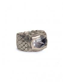 Anello ElfCraft con scaglie di drago e pietra zirconia bianca 808.433dS-L54