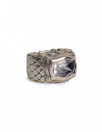 ElfCraft ring with dragon scales and white zirconia stone online