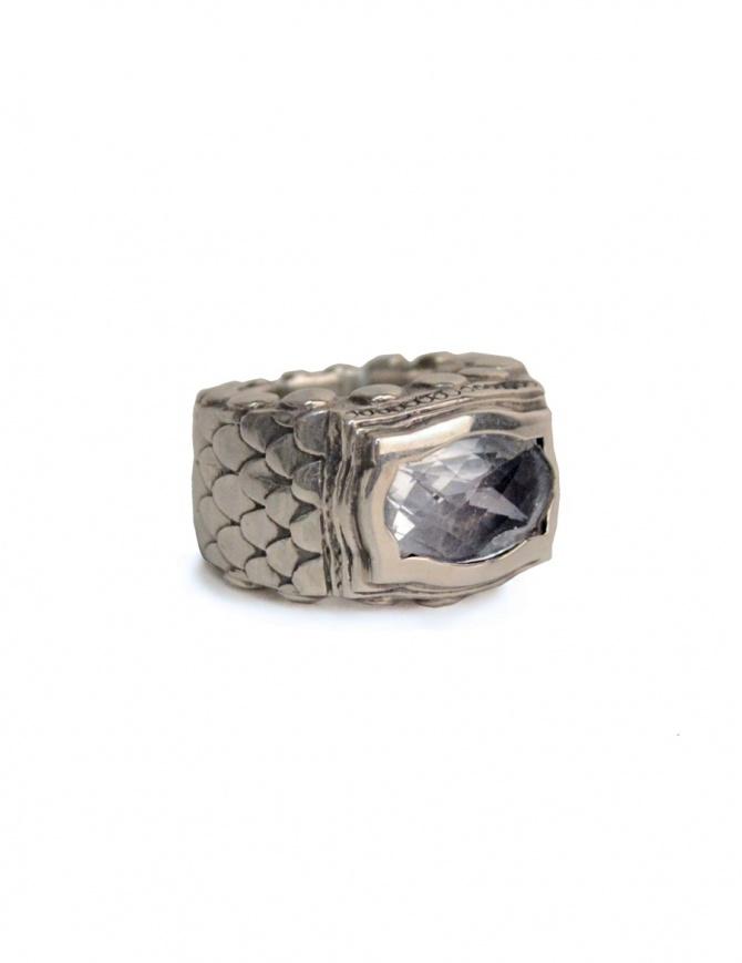 Anello ElfCraft con scaglie di drago e pietra zirconia bianca 808.433dS-L54 preziosi online shopping