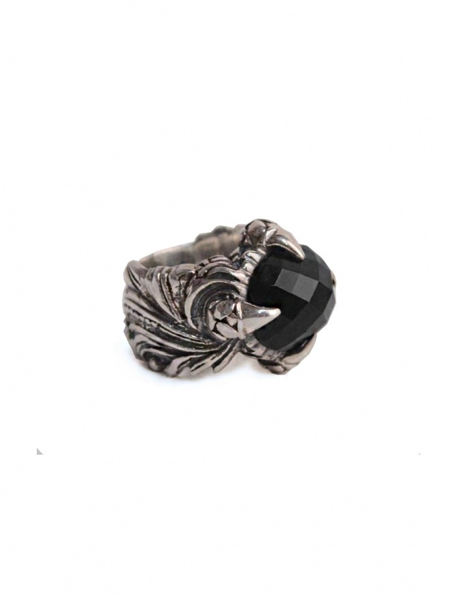 ElfCraft ring with black zirconia stone 846.844-L58 jewels online shopping