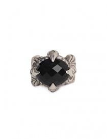 Anello ElfCraft con pietra zirconia nera