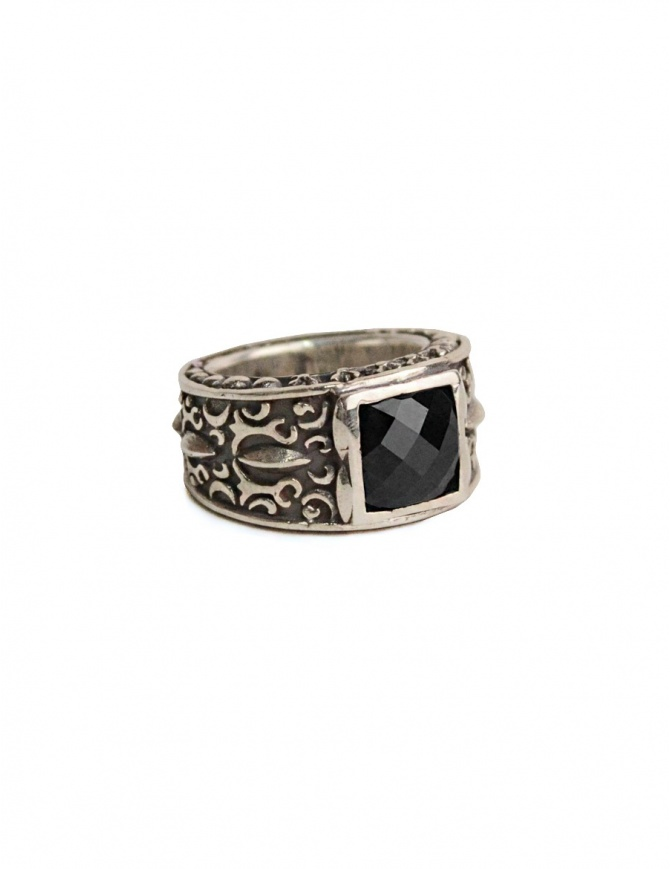 ElfCraft silver ring with black zirconia stone 809.030CARE-L68 jewels online shopping