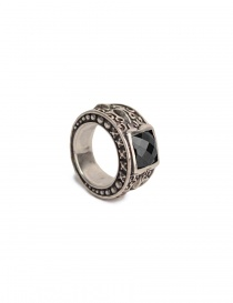 ElfCraft silver ring with black zirconia stone price