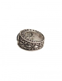ElfCraft silver ring with black zirconia stone jewels buy online