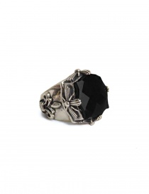 Jewels online: ElfCraft round ring with onyx stone