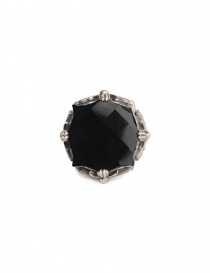 ElfCraft round ring with onyx stone