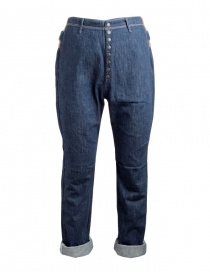 Kapital dark blue jeans with hemp band online