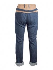 Jeans Kapital blu scuro con fascia in canapa