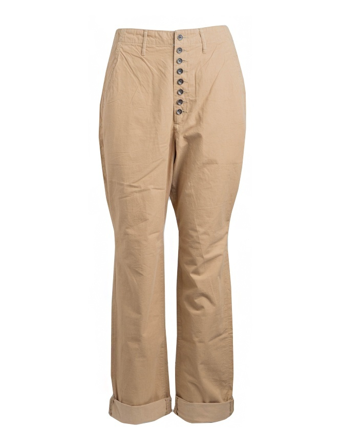 Kapital beige trousers with button closure K74LP162 KAPITAL mens trousers online shopping