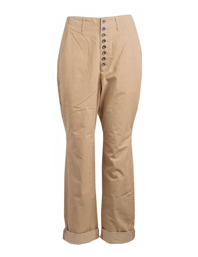 Pantalone Kapital beige chiusura a bottoni K74LP162-KAPITAL pantaloni uomo online shopping