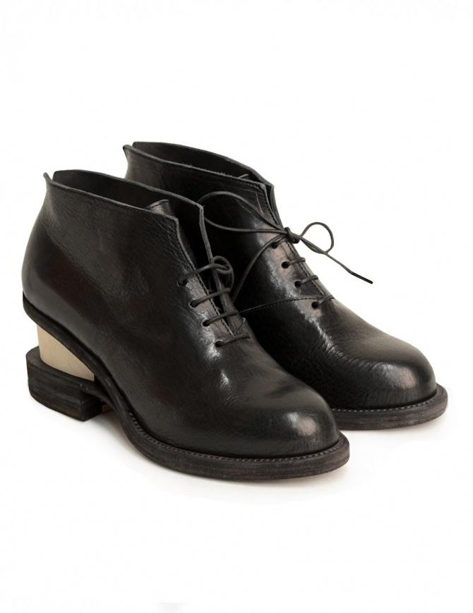 Scarpe Petrosolaum con tacco in legno 8124-PTR1 SLIT MID WOOD calzature donna online shopping