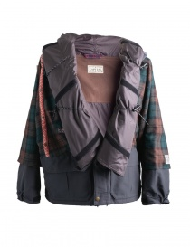 Mens jackets online: Kapital Kamakura brown and green jacket