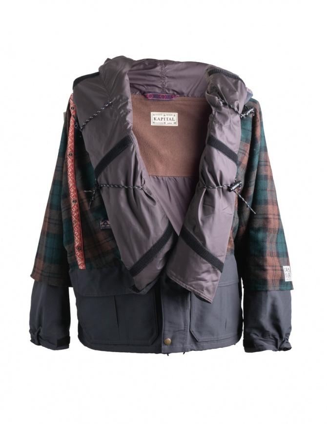 Giacca Kapital Kamakura marrone e verde K1711LJ216 BROUN PARKA giubbini uomo online shopping