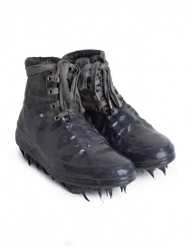 Mens shoes online: Carol Christian Poell dark grey shoes with high rubber dripped sole