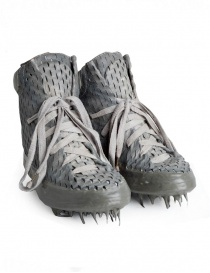 Carol Christian Poell perforated gray shoes with rubber-dripped sole AM/2686C RUUMS-PTC/33
