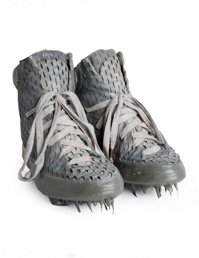 Carol Christian Poell perforated gray shoes with rubber-dripped sole AM/2686C RUUMS-PTC/33 mens shoes online shopping