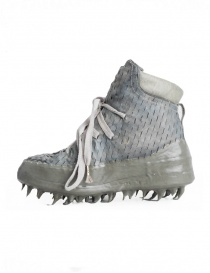 Carol Christian Poell perforated gray shoes with rubber-dripped sole buy online