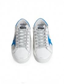 Sneakers Golden Goose Superstar Bianche Silver Stella Blu calzature uomo acquista online