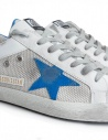 Golden Goose Sneakers Superstar White Silver with Blue Star price G34MS590.M99-WHITE-SILVER-NET shop online